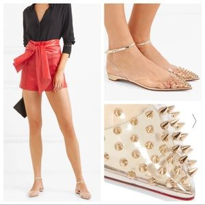 Christian Louboutin Spikoo Flat PVC clear spiked